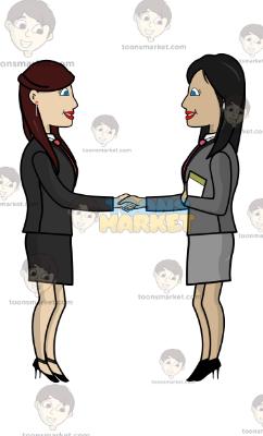 two corporate women
